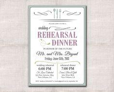 Wedding Rehearsal and Dinner invitation by DarlinBrandoPress, $15.00