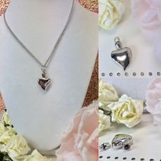 Silver Heart Urn Necklace This beautiful urn silver heart  necklace is a great way to keep your loved one close to your heart .   The top unscrews so that you can place your loved ones securely inside.    Please message us with any questions. Jewelry Necklaces
