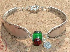 Armbänder - Damen - Armband mit Marienkäfer- Perle,Charm, - ein Designerstück von schmuck-checker bei DaWanda