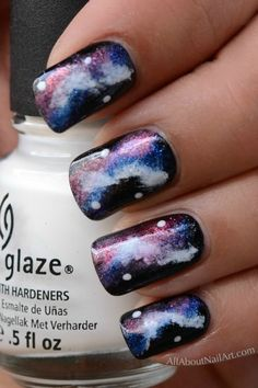 DIY Galaxy Nails, so fun and creative! Full tutorial inside   @ Be Mindful, You're Creatve