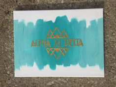 Custom Sorority Mountain Canvas by CraftyAXID on Etsy
