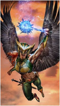 Hawkgirl Artist: JS Gallagher