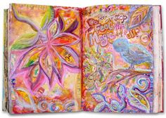 Liesel Lund shares yer beautiful talents in all things mixed media and art journals here.