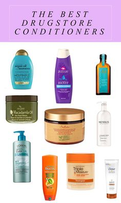 These are the best drugstore conditioners on the market, according to celebrity hairstylists. There are recommendations for curly and straight hair as well as deep and leave-in conditioners. Shampoo For Curly Hair, Curly Hair Care, Curly Hair Styles, Natural Hair Styles, Shampoo For Bleached Hair, Blonde Hair Care, Curly Afro, Low Porosity Hair Products, Hair Porosity