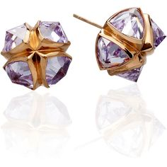Katie Rowland Salome Stud Earrings (560 CAD) ❤ liked on Polyvore featuring jewelry, earrings, women, katie rowland, stud earrings and earrings jewelry
