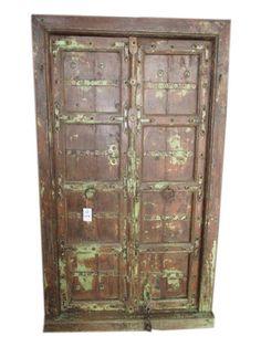 5960942e9cff Antique doors hand carved teak wood door   frame tuscan mediterranean  interiors