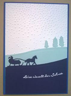 Weihnachtskarte mit Schlitten Stampin Up von Objektgarten auf DaWanda.com