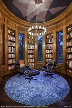 Love the two-story library, all the marble above the fireplace ...
