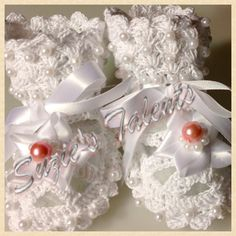 Baby Shoes with Beads Baby Booties with Beads by SuziesTalents, $35.00