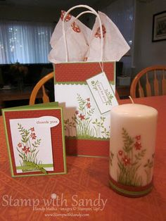 """Stamped Candle Gift Set: """"Thanks for being a light to those around you!"""""""