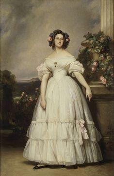 1838 Clémentine Prinzessin von Sachsen-Coburg und Gotha (1817-1907), née Princesse d'Orléans by Franz Xaver Winterhalter (private collection) Wm UPGRADE