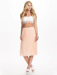 Club L Pleated Chiffon Midi Skirt