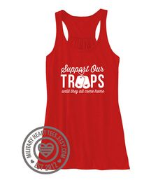 Red Friday tank top Support our troops shirt by MilitaryHeartTees