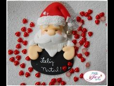 Imã Porta Recado de Natal - YouTube Diy Christmas Ornaments, Xmas, Polymer Clay Dolls, Cold Porcelain, Fondant, Gingerbread, Diy And Crafts, Projects To Try, Holiday Decor