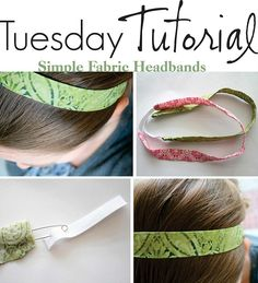 Fabric headband - can be made with scraps - would be great to have for running!