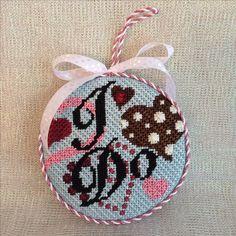 Finishing of I Do ornament