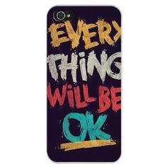 Amazon.com: MagicPieces Everything will be OK Print Plastic Snap-on Back Cover Case for iPhone 5/5S: Cell Phones & Accessories