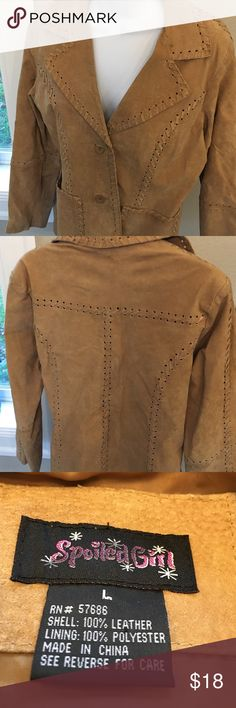 Spoiled Girl leather jacket Camel color. 100% real leather/Suede. Spoiled Girl Jackets & Coats