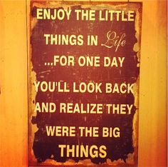 Thankful for the Little Things!