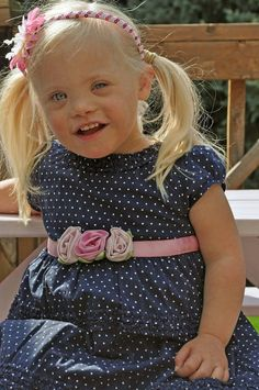 She is soooo pretty^_^ can't wait to adopt mine:) Down Syndrome Adoption, Down Syndrome Kids, Down Syndrome Awareness, Precious Children, Beautiful Children, Beautiful Babies, Beautiful People, Special Needs Kids, Special People