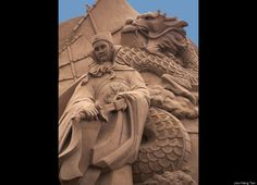 "Sand sculpture ""Voyage Of Zheng He"" by Joo Heng Tan"