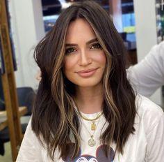 Hair Color Streaks, Hair Dye Colors, Hair Color For Black Hair, Hair Colour, Brown Hair Balayage, Brown Blonde Hair, Front Hair Styles, Curly Hair Styles, Honey Brown Hair
