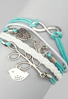 Mint bird bracelets