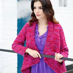 Cocoa Free Wrap Style Cardigan Knitting Pattern_2