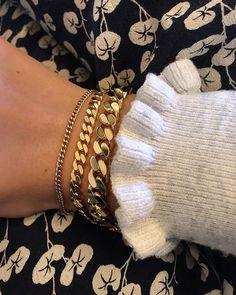 My Panzer Bracelet Collection ⛓ Alles aus 18 kt vergoldetem . - My Panzer Bracelet Collection ⛓ Alles aus 18 kt vergoldetem … - Fashion Jewelry Necklaces, Cute Jewelry, Jewelry Accessories, Diy Jewelry, Trendy Jewelry, Jewelry Box, Clean Jewelry, Jewelry Armoire, Summer Jewelry