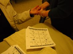 Practicing Hand #Reflexology routine with help of Study Guide. www.AmericanAcademyofReflexology.com Ear Reflexology, Certificate, Conference, Oregon, Seattle, Health Care, Routine, Workshop, Stress