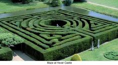 Labyrinth Maze:  The Maze at Hever Castle (the childhood home of Anne Boleyn), Hever, Kent, England.
