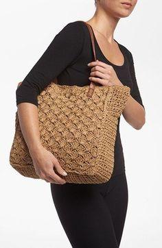 Straw Studios Crochet Tote available at – Knitting patterns, knitting designs, knitting for beginners. Crochet Market Bag, Crochet Tote, Crochet Handbags, Crochet Purses, Bead Crochet, Custom Tote Bags, Tote Bags Handmade, Tote Handbags, Purses And Handbags
