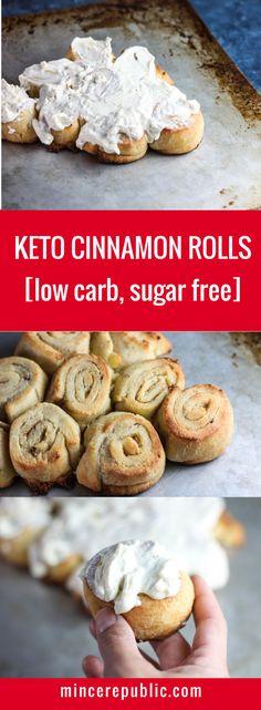 Low Carb Keto Cinnamon Rolls [sugar free] | #keto #llowcarb | mincerepublic.com