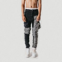 Swag Outfits Men, Casual Outfits, Cargo Pants Outfit Men, Diy Clothes And Shoes, Vintage Street Fashion, Urban Fashion Women, Denim Jeans Men, Moda Emo, Denim Fashion