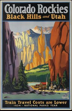 Travel art deco posters | Valuable vintage travel posters go to ...