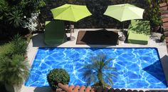 """Another Aquamatic Exclusive. The """"Artpoolcover"""" offers imprinted designs. Chose from dozens of patterns, or supply your own image or graphic. Bring the """"fun"""" into pool covers"""