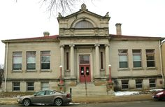 Waterloo Public Library-East Side Branch in Black Hawk County, Iowa. Cedar Falls Iowa, Carnegie Library, Andrew Carnegie, Black Hawk, East Side, Nashville, Sweet Home, Around The Worlds, High Ceilings
