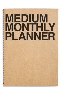 Monthly Medium Planner