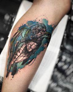 Creative watercolor sea turtle by Felipe Rodrigues Fe Rod