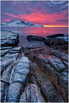 "500px / Photo ""Arctic Sunset Light"" Lofoten, Norway, by Christian Bothner"