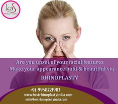 Are you upset of your Facial features Make your appearance bold & beautiful via #Rhinoplasty Consult us to discuss about shaping your #nose & know more about how we do. Schedule an Appointment: www.bestrhinoplastyindia.com Call: +91-9818369662, 9958221983 #NoseSurgery #NoseReshape #TipNose