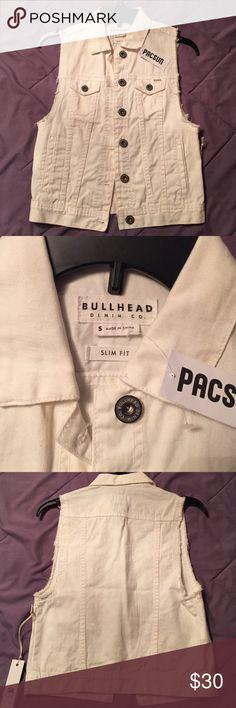 SALE!  Brand New denim vest Brand new! PacSun Jackets & Coats Vests