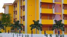 Rumah Susun Trophy Yogyakarta #rusunawa #rusun #rumahsusun #desainrumahsusun #flathousedesign #flat #flathouse #yellowhouse