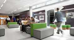 The National Maritime Museum in London invited us to design an open, public and interactive space for the new Sammy Ofer Wing with our PARCS set.     http://bene.com/office-furniture/gb-maritime-museum/