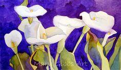 Art of Mary Gibbs Callas Watercolor Disney, Watercolor Flowers, Watercolor Paintings, D Flowers, Internet Art, Sunflower Art, Silk Art, Fabric Painting, Stone Painting