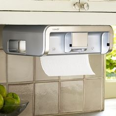 CleanCut is a touchless under-the-cabinet paper towel dispenser that keeps your rolls clean and sanitary. Using one hand, you can control how much paper is dispensed regardless of the perforation.