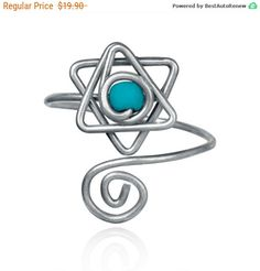 Mothers Day Sale - knuckle ring Cute star of david - sister ring - Opal wire ring - simple ring - turquoise ring - gift ideas - Love r... by energywire from Ecommmax. Find it now at http://ift.tt/1Tb2iF3!