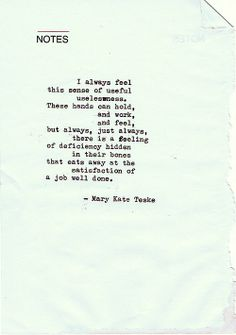 Typewriter poem #5 | Mary Kate Teske