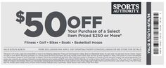 Sports Authority Printable Coupon August 2014 - Save on Sporting Goods