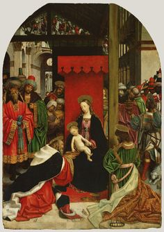 Adoration of the Magi; Defendente Ferrari (Italian, active about 1500 - 1535); about 1520; Oil on panel; 262.3 x 186.1 cm (103 1/4 x 73 1/4 in.); 74.PB.31